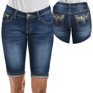 Stylish Outback Clothing Womens Pure Western Womens Beth Mid-Length DenimShorts