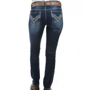 "Stylish Outback Clothing Womens Pure Western Womens Harlee Skinny Jean- 32"" leg only"