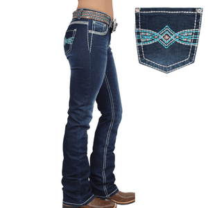 "Stylish Outback Clothing Womens Pure Western Womens Indiana Relaxed Rider Jean-36"" Leg only"