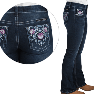 "Stylish Outback Clothing Womens Pure Western Womens Leah Bootcut Jeans-32"" Leg only"
