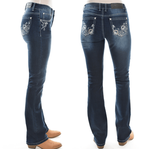 "Stylish Outback Clothing Womens Pure Western Womens Rosie Bootcut Jean - 34"" leg only"