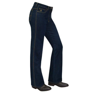 vendor-unknown Womens 10 (Allow 2-5 Business Days for Shipping) Thomas Cook Womens Stretch Denim Wonder Jean-Mid-Reg-Boot Leg DK DENIM