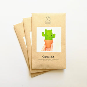 Catcus - Cat + Cactus - Hand-Stitching Felt Kit