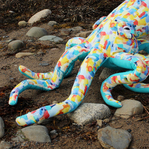 Giant Octopus Stuffed Animal Decor Soft Sculpture One of a Kind - Brushstrokes