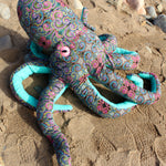 Giant Octopus Stuffed Animal Decor Soft Sculpture One of a Kind - Paisley