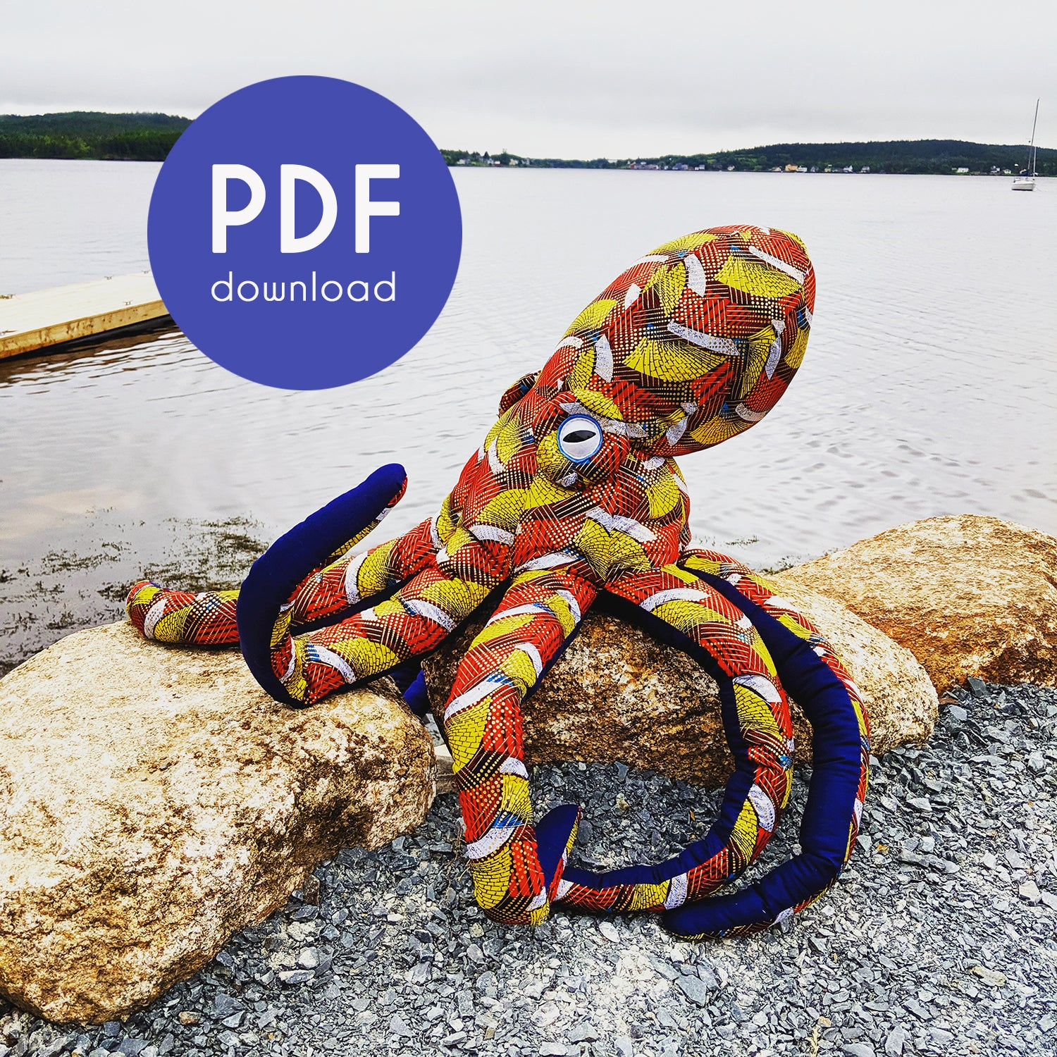 GIANT Octopus Sewing Pattern Supplement - PDF Download