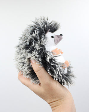 Hedgehog Hand Stitching Felt Kit - Long Fur