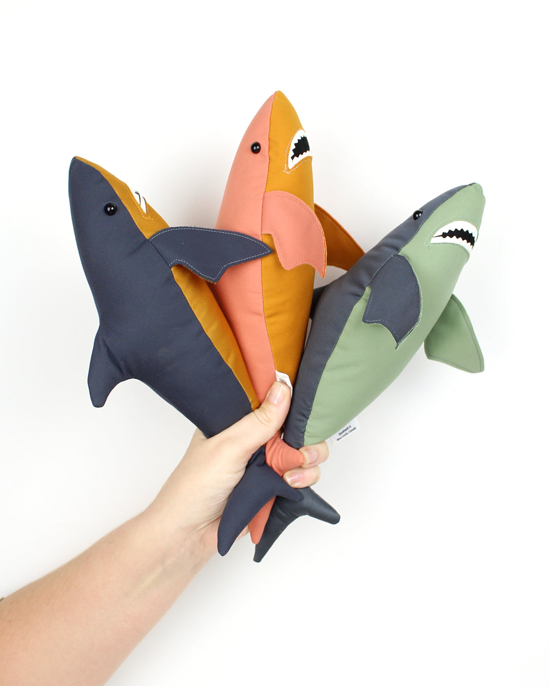 Water-Resistant Two-Tone Fabric Sharks