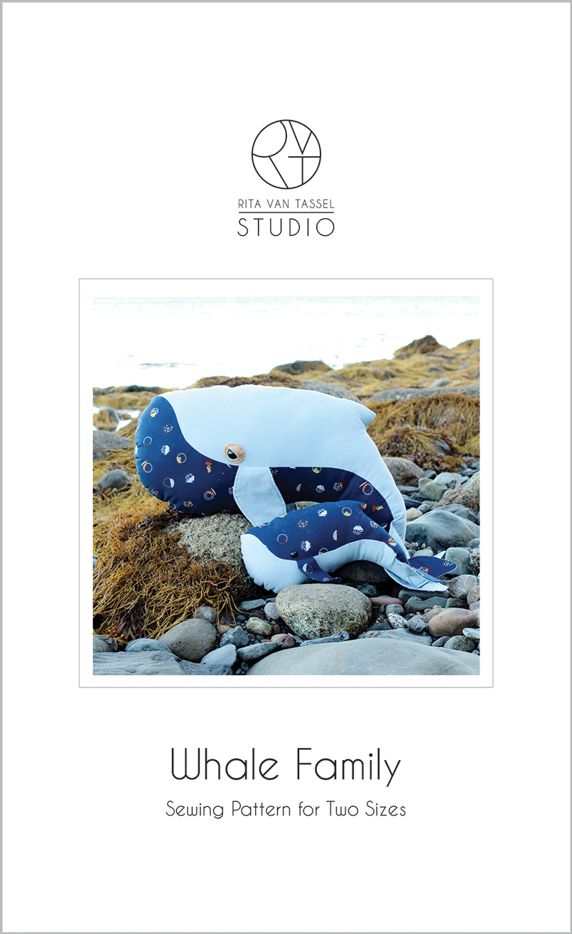 Whale Family Sewing Pattern - PDF Download