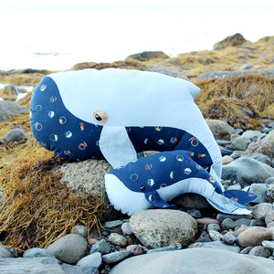 Whale Family Printed Sewing Pattern