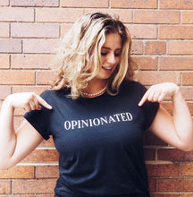 OPINIONATED classic black tee