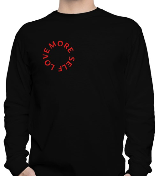 More Self Love black long-sleeved tee