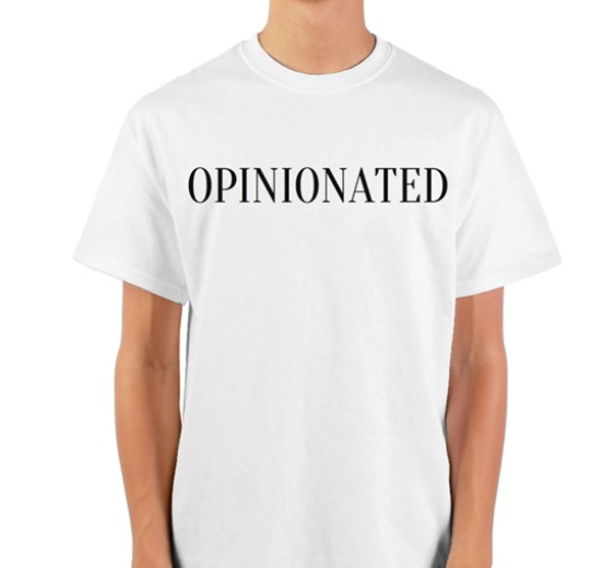 OPINIONATED classic white tee