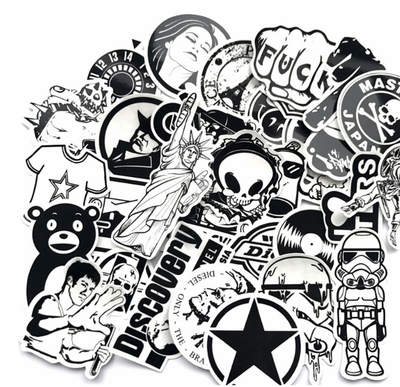60 Piece Black And White StickerSlap Set