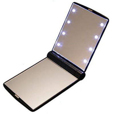 Pocket Mirror with 8 LEDs
