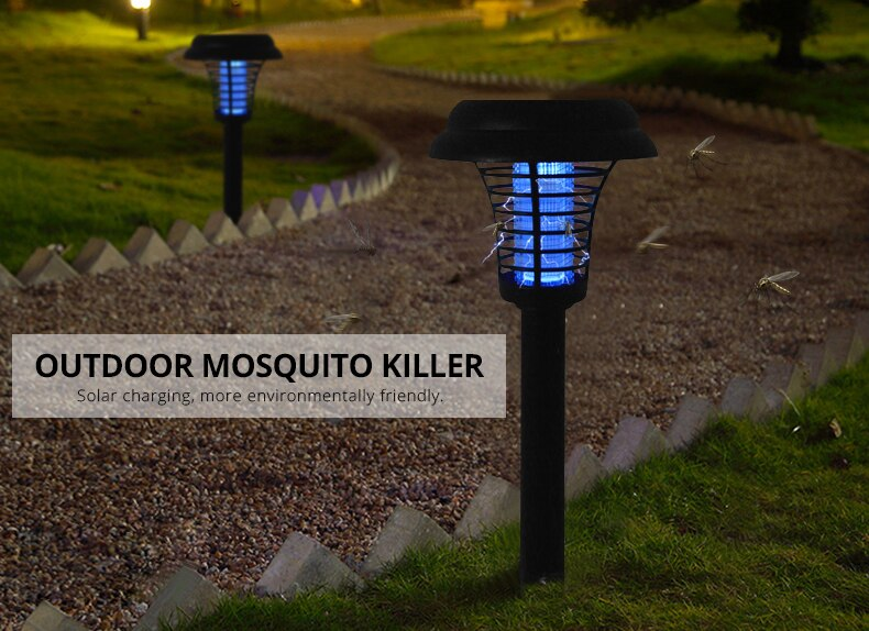 Solar Powered Bug Zapper Lamp