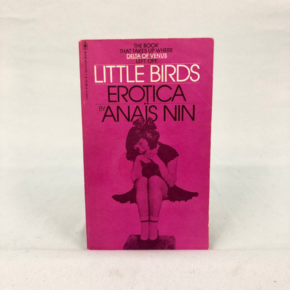 Little Birds - Erotica By Anis Nin Paperback Book from 1980 With A purple cover with the image of a little girl on it