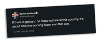Class War Tweet Sticker