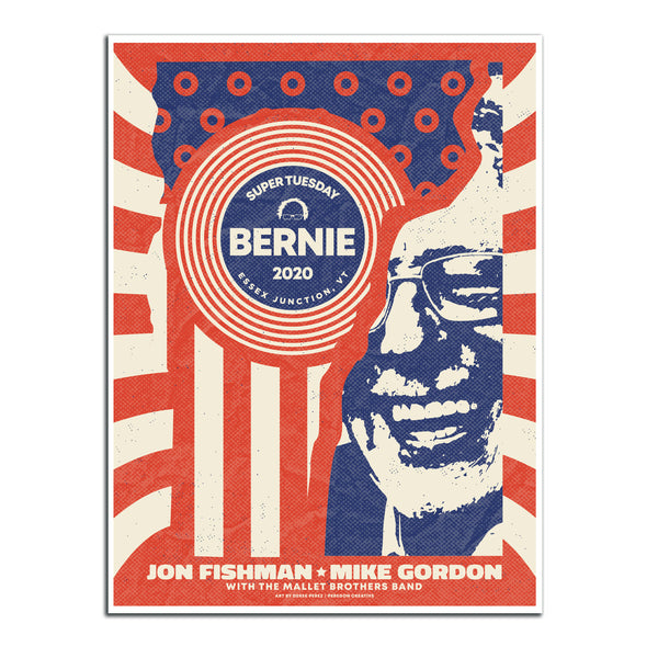 Super Tuesday Vermont Rally Poster