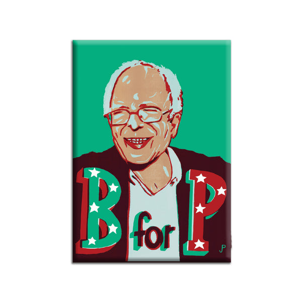 """B for P"" Fridge Magnet by Jim Pollock"