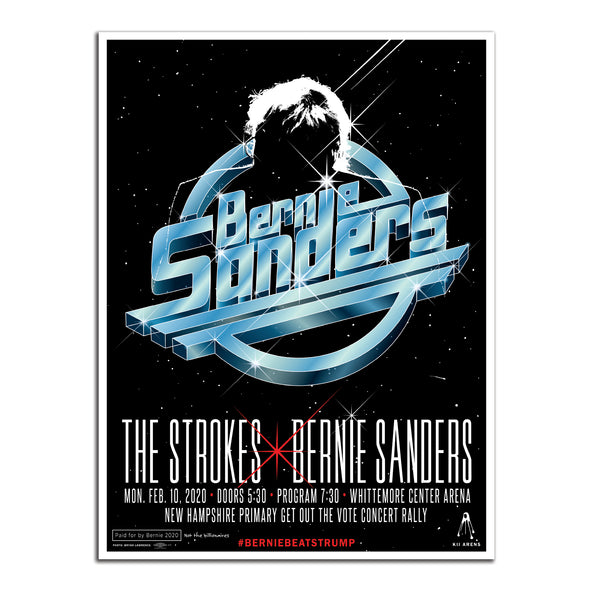 The Strokes Concert New Hampshire Get-Out-The-Vote Poster