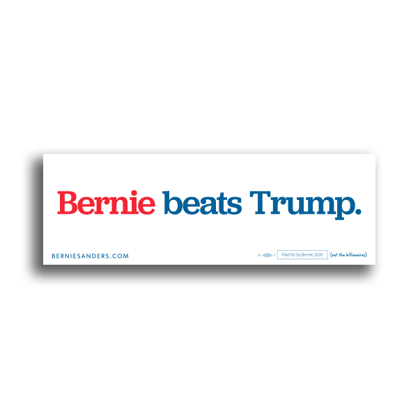 Bernie Beats Trump Bumper Sticker