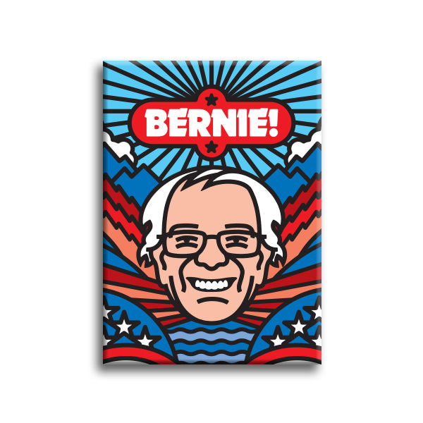 """Bernie"" Fridge Magnet by Aaron Draplin"