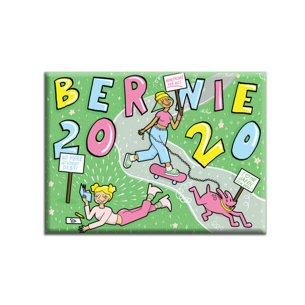"""Bernie 2020"" Fridge Magnet by Maddie Laflamme"