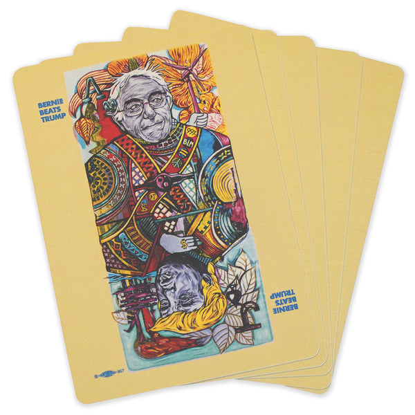 """Bernie Beats Trump"" Playing Cards by Sir Tom Foolery"