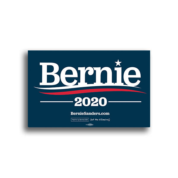 Bernie 2020 Rally Sign - Dark Blue
