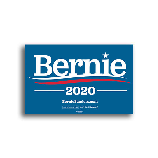 Bernie 2020 Rally Sign - Light Blue