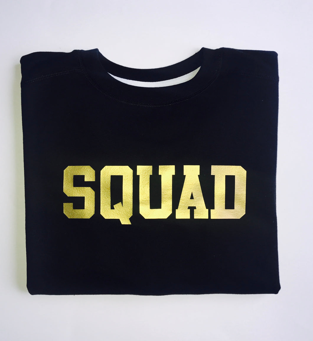 SQUAD SWEATSHIRT (BLACK)