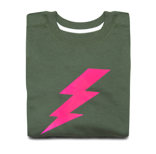 LIGHTENING BOLT SWEATSHIRT (KHAKI)