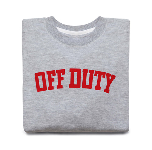 OFF DUTY SWEATSHIRT (GREY)