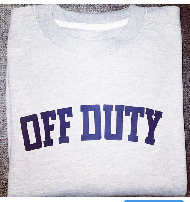 MENS Off Duty Sweatshirt (Grey & White) - Sale