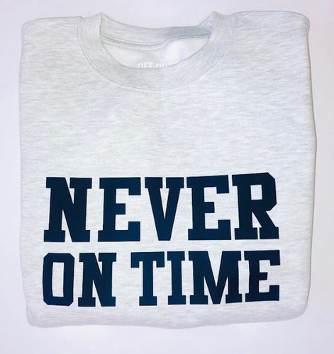 MENS Never On Time Sweatshirt (Grey & Black) - Sale