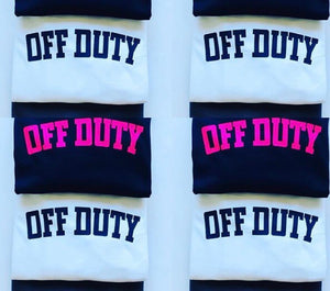 Off Duty Sweatshirt (Navy & Neon Pink) - Sale