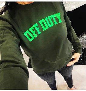 Off Duty Sweatshirt (Khaki & Neon Green) - Sale