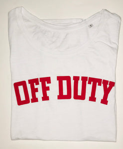 Off Duty T-Shirt (White and Red) - Sale