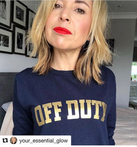 Off Duty Sweatshirt (Navy & Gold) - Sale