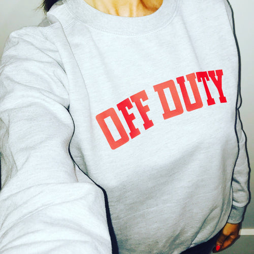Off Duty Sweatshirt (Charcoal & Red) - Sale