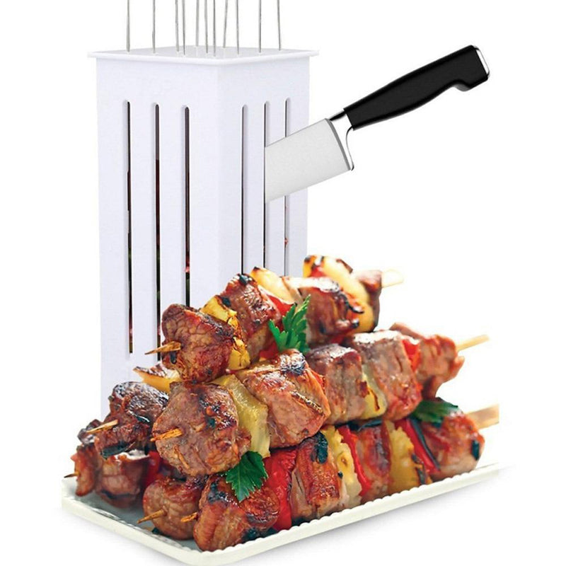 Hirundo 16 Holes BBQ Kabob Skewer Maker, Quick Kabob Express