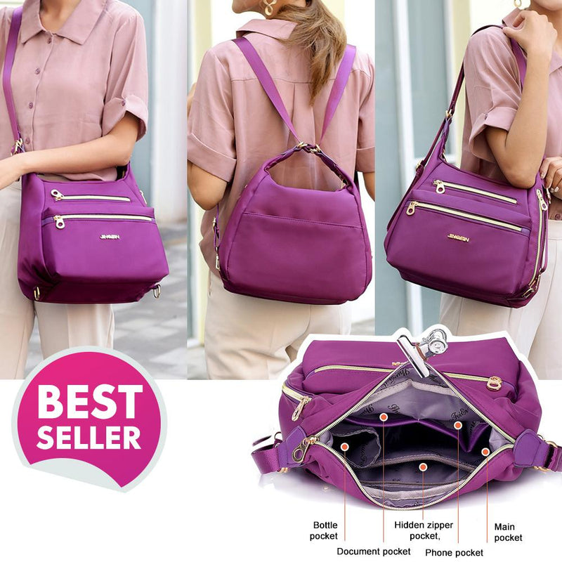 Homiepie™ Bag with Double Zippers, Handbag and Shoulder Bag