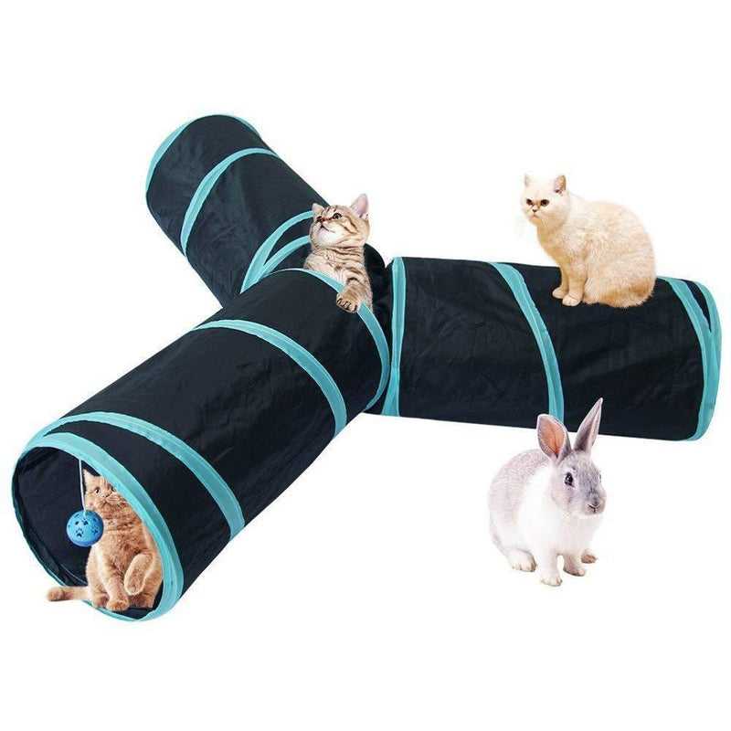 3 Way Pets Tube Foldable Tunnel