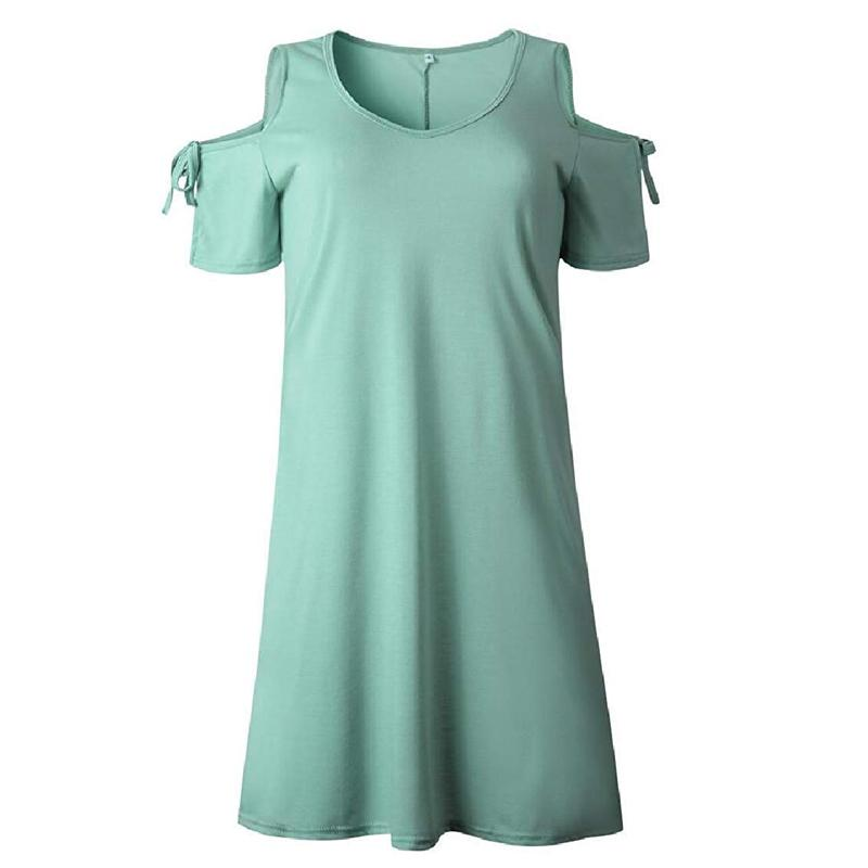 Homiepie™ V-Neck Dew Shoulder Dress