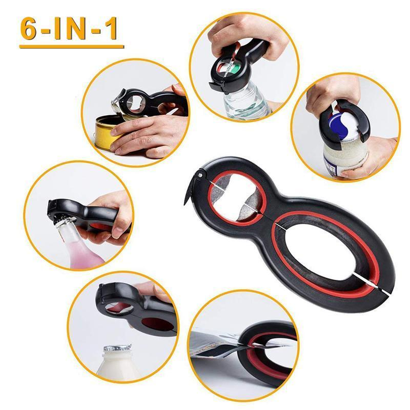 Homiepie™ 6 in 1 Multi-functional Bottle Opener