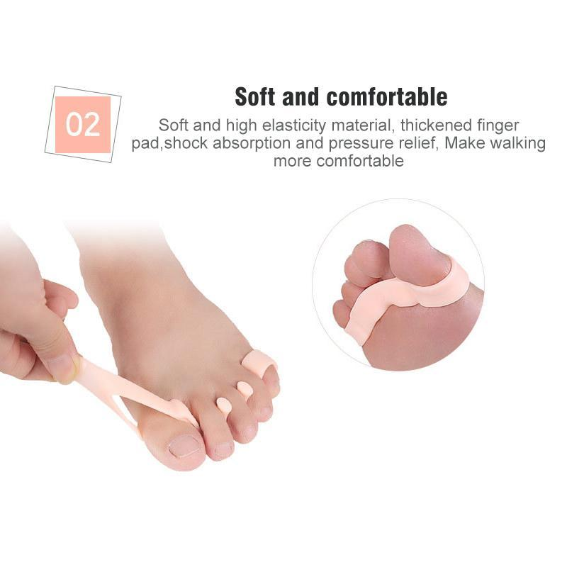 5 Holes Silicone Pedicure Foot Care Tool, 1 Pair
