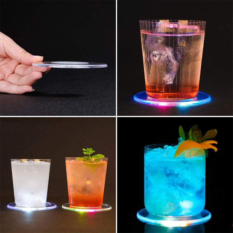 Acrylic LED Light Up Coasters