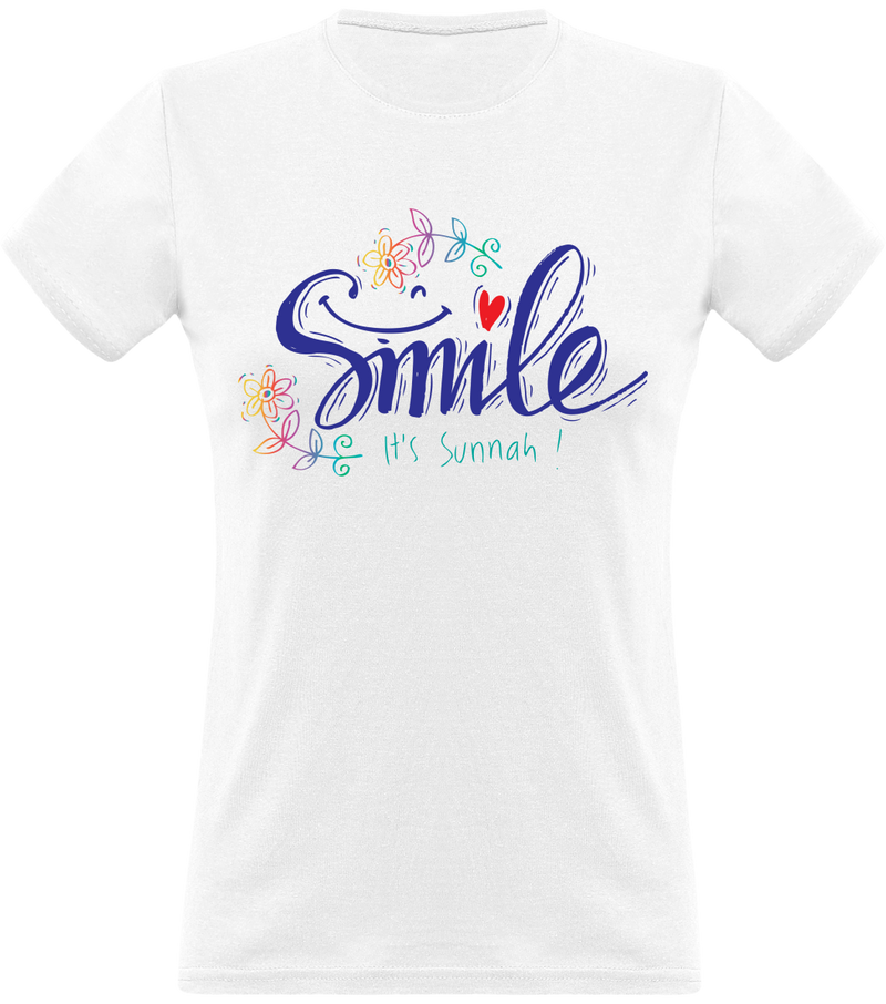 Tee Shirt Femme SMILE IT'S SOUNNAH