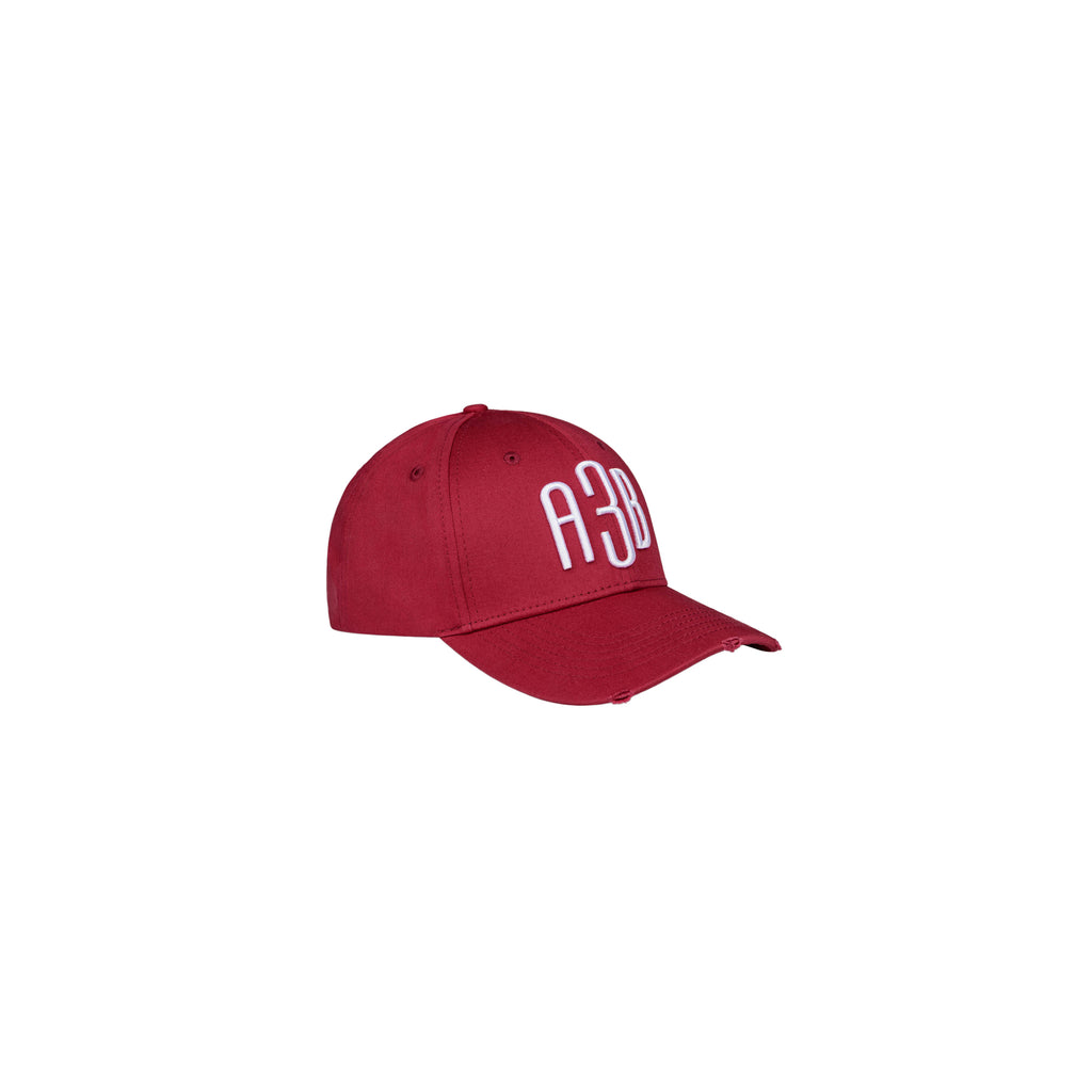 A3B - DISTRESSED BASECAP VINTAGE RED